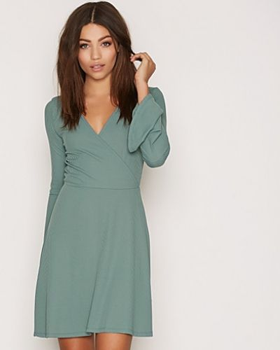Topshop Trumpet Sleeve Wrap Dress