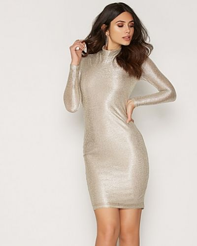 NLY One Turtle Neck Foil Dress