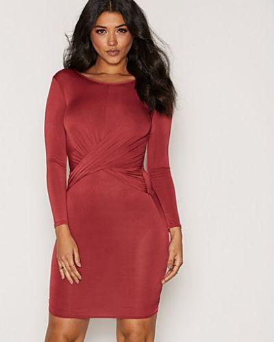 Långärmad klänning Twist Front Slinky Dress från NLY One