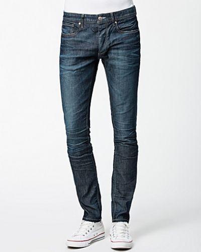 Blå slim fit jeans från Selected Homme till herr.
