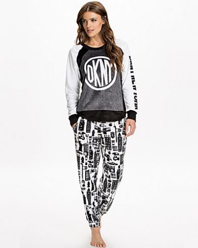 DKNY Lounge Wear Urban Break Long Sleeve Top