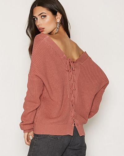 NLY Trend V-Back Lace Up Knit