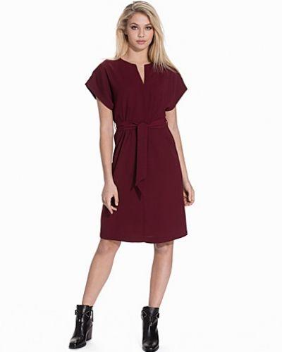 Topshop V-Neck Belted Midi Dress