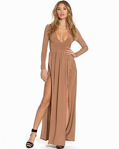 Club L V-Neck Double Split Maxi Dress