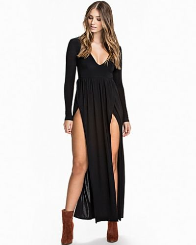 Club L V-Neck Double Split Maxi Dress