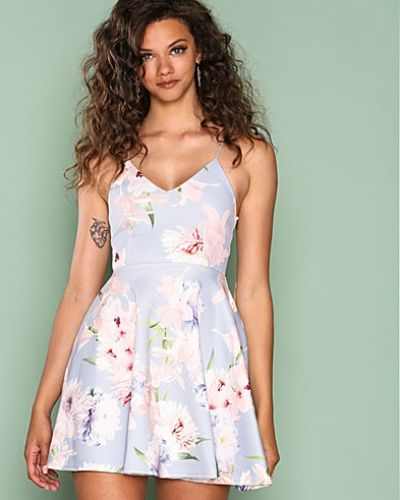 New Look V Neck Floral Print Skater Dress