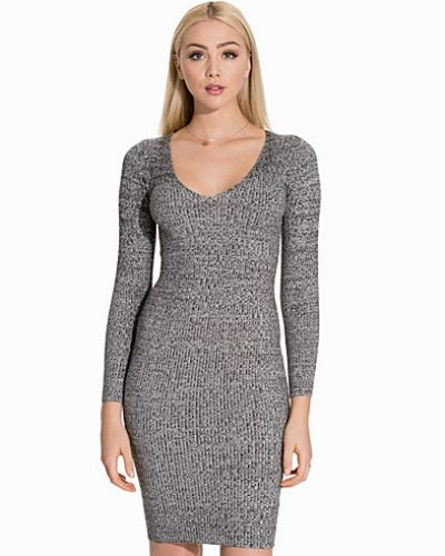Miss Selfridge V Neck Rib Dress