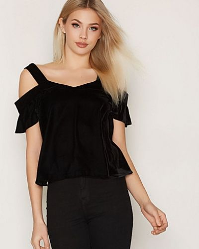 Topshop Velvet Off The Shoulder Top