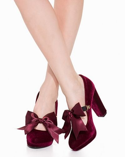 Velvet Pump Nly Shoes pumps till dam.