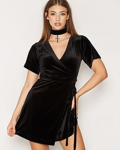 New Look Velvet Wrap Dress
