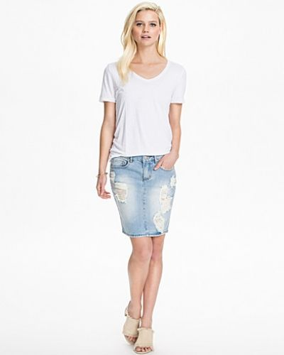 VILA Vifit Denim Skirt