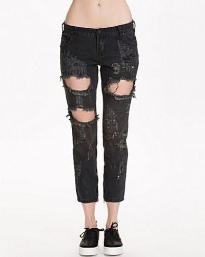Slim fit jeans Vintage Black Trashed Freebirds från One Teaspoon