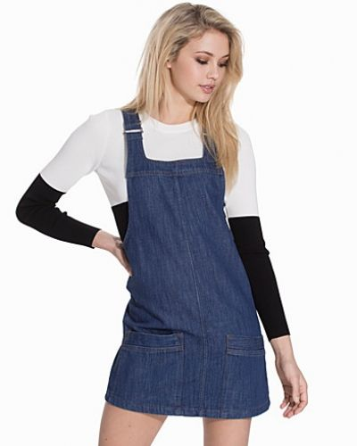 Topshop Vintage Denim Pinafore Dress