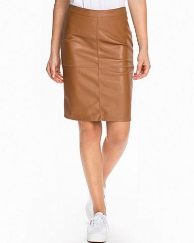 Till kvinna från VILA, en brun midikjol.