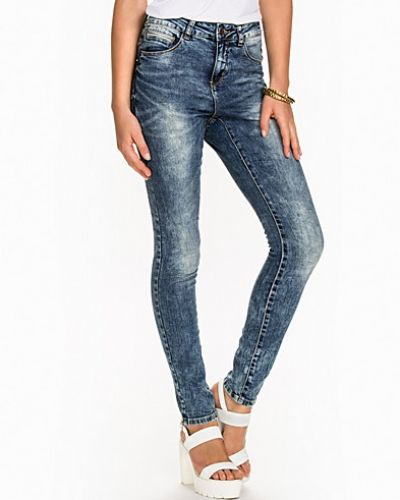 VMMAXI LW A.FIT CLEAN JEANS DK BLUE Vero Moda slim fit jeans till dam.