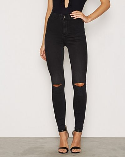 Svart slim fit jeans från Topshop till dam.