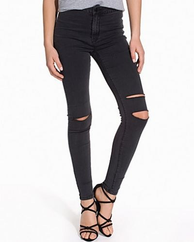 New Look Washed Knee Slash Jeans