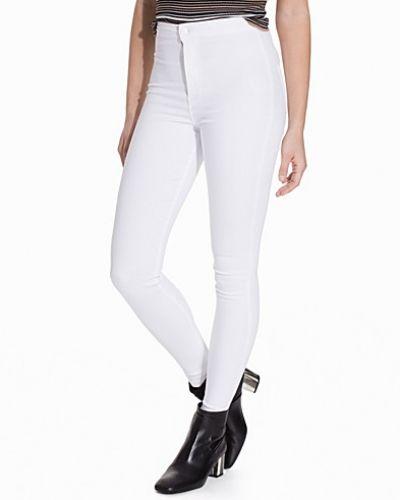 Vit slim fit jeans från Topshop till dam.