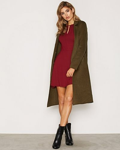 Topshop Wool Butted Seam Coat
