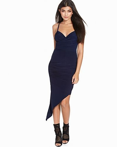 Wrap Front Asymmetric Slinky Dress Club L fodralklänning till dam.