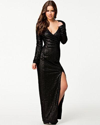 Wrapover Split Maxi Dress Ax Paris långärmad klänning till dam.