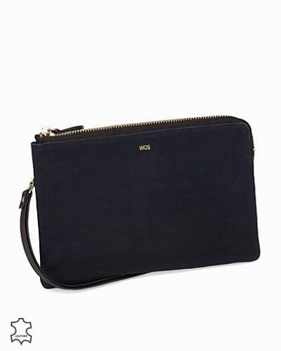 Till tjejer från WOS, en blå kuvertväska.