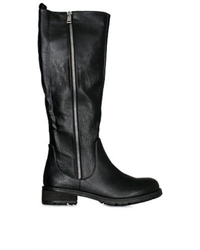 Zip Boot W. Belt Bianco stövlett till dam.