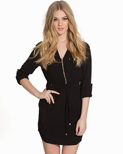 New Look Zip Detail Shirt Dress